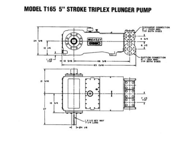 Gaso T165 Triplex Pump